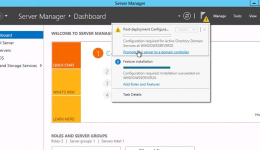 Instalarea rolului Active Directory Domain Services
