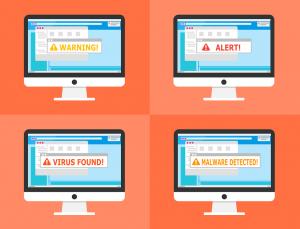 Virușii cibernetici sau troienii v-ar putea infecta sistemul IT